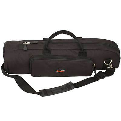 Brand New  Senior Trumpet Soft Case Nylon Gig Bag Crossbody Portable Black