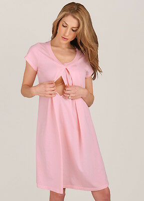 NEW - Floressa - Caitlin Pink Hospital Nursing Gown   Maternity Clothes