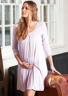 NEW - Floressa - Tahlia Lilac Hospital Nursing Gown | Maternity Clothes