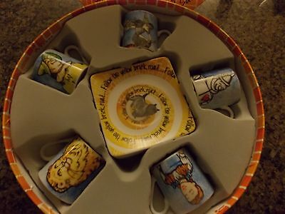 Paul Cardew~Wizard Of Oz~Set Of 5 Espresso Cups & Saucers~New