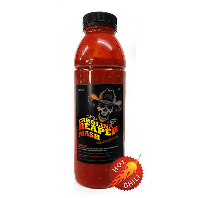 Chilli Sauce - Carolina Reaper- Chilli Mash  500g Perfect for Sauce Making