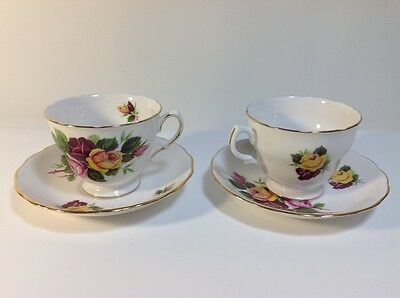 2 x ROYAL VALE CUPS and SAUCERS  Pattern no. 8315
