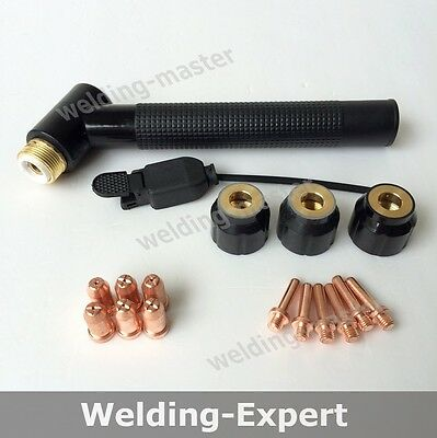 Air Plasma Cutter torch Cutting Consumables JG-60 head body shield cup tip Kit