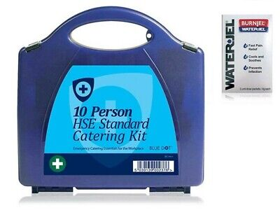 HSE 10 Person Premium Catering First Aid Kit in Box **FREE Burn gel**