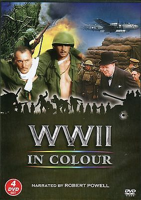 Wwii In Colour Narrated By Robert Powell World War 2 - 4 Dvd Set - 13 Episodes