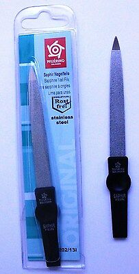 Pfeilring 1202/13i Sapphire Matt Black Nail File 130mm - Made in Germany
