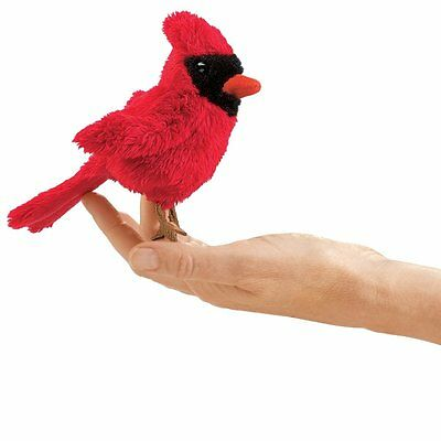 Finger Puppet - Folkmanis - Mini Cardinal New Animals Soft Doll Plush Toys 2743