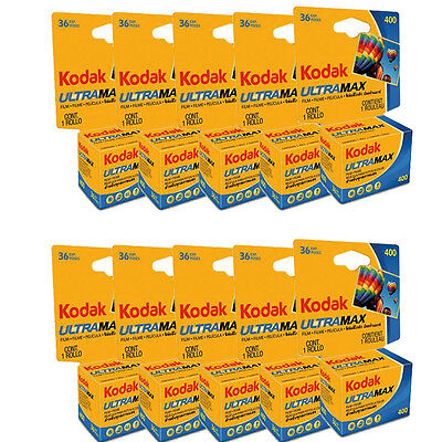 20 Rolls Kodak Ultra Max GC 400 (ISO) 135-36 Color Print 35mm Film FRESH