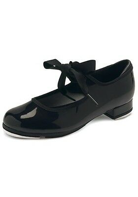 Kids Black BLOCH Annie Classic Tap Shoes Narrow and Medium Size 9-1.5