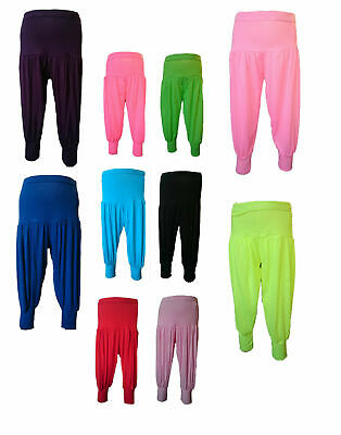 3/4 LENGTH GIRLS KIDS HAREEM TROUSER ALI BABA  HAREM LEGGINGS PANTS   7-13 yrs