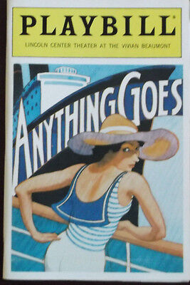 September 1987 - Lincoln Center Beaumont Theatre Anything Goes Playbill