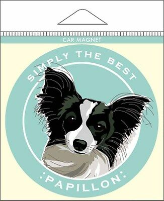Papillion Car Magnet 4×4″