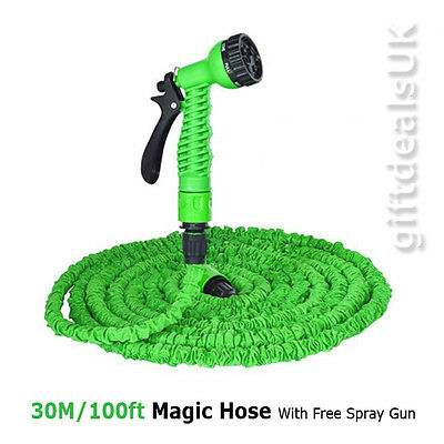 Expandable Flexible Garden Water Watering Magic Hose Spray Nozzle Irrigation 30M