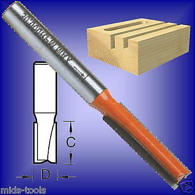 1/4 x 1 ROUTER BIT 1/4 SHANK STRAIGHT CUT TCT cutter imperial