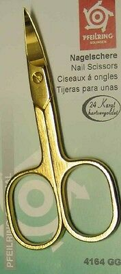 Pfeilring 4164GG Nail Scissors Brushed 24 Carat Hard Gold -Plated 90mm