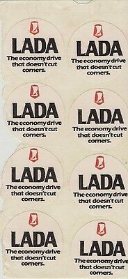 Lada 'The Economy Drive That Doesn't Cut Corners' 1981-82 UK Market Stickers