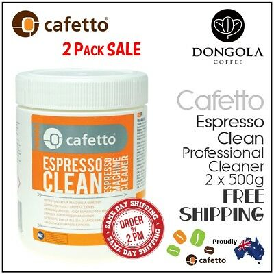2PK CAFETTO 500g ESPRESSO CLEAN Coffee Machine Cleaner Professional Use Cleaning