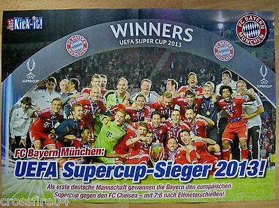 Poster FC Bayern München UEFA Supercup - Sieger 2013  42 x 28,5 cm