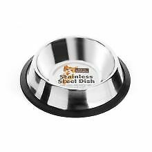 PET-567726 Fed 'N' Watered Stainless Steel Non Tip Cat Dish  (15cm)