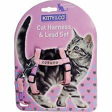 PET-90390 Hem & Boo Cat Harness Diamante