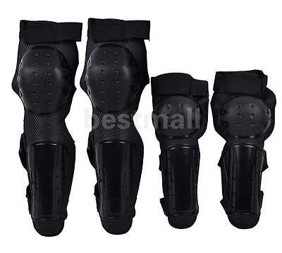 New Black Strong Knee Pad Elbow Protector Brace Moto Racing Protective Gear Set