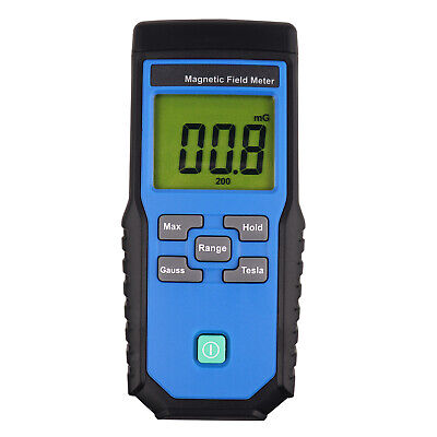 Gaussmeter EMF ELF Tester Single Axis Electromagnetic  Field Detector Portable