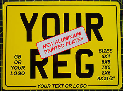 Rear Number Plate Motorbike Motorcycle Bike Various Sizes Available Show Plate