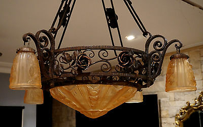 Beautiful French Style Art Deco Chandelier