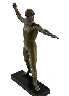 Artemision Zeus Or Poseidon Statue Bronze Artifact Sculpture