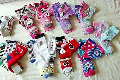 Children Girl 3 Pair/pack Mix Ankle Socks Uk 9-12 Eur-27-30,mix Designs 5-6 Year