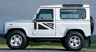 LAND ROVER DEFENDER 90 / 110 Aftermarket DECAL Door Sticker SET UK Flag Union