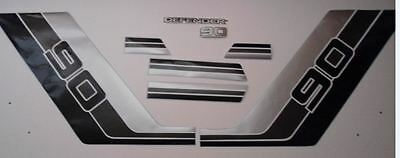 LAND ROVER DEFENDER 90 Pickup Commercial Aftermarket DECAL Stripes Sticker SET