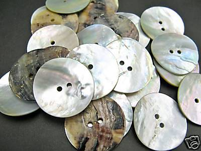 10pcs  48L 30mm Natural REAL SHELL BUTTON AGOYA MOP MOTHER OF PEARL Sewing Craft
