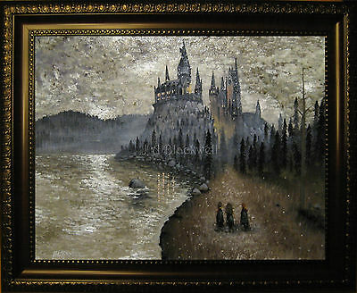 Harry Potter Art Canvas Painting J A Blackwell Hogwarts First Year Framed