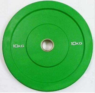 "Ironman Olympic 2"" Solid Rubber Bumper Plate 10KG - Weightlifting Discs"