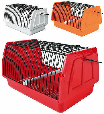 Transport Cage & Removable Perch Small Birds Budgies Canaries & Small Animals