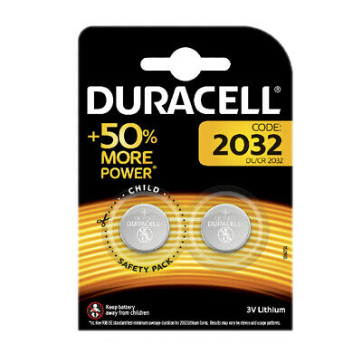 1 / 2 x Duracell CR2032 Lithium Battery 3v Button Coin Cell Batteries Car Remote