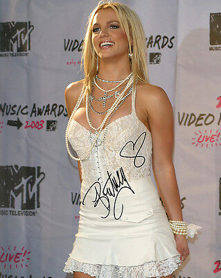 Britney Spears Signed 8X10 Photo Reprint Sexy Hot White Dress