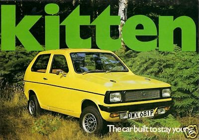 Reliant Kitten 1975-77 UK Market Sales Brochure Hatchback Estate