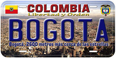 Bogota Colombia Novelty Car License Plate A01
