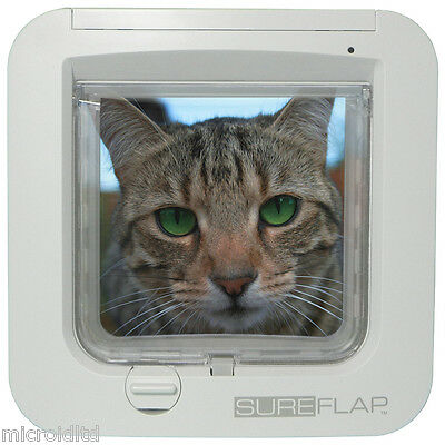 Sureflap Microchip Cat Flap and Accessories in Brown or White