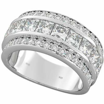 925 Sterling Silver Channel Set Ladies Half Eternity Wedding Engagement Ring