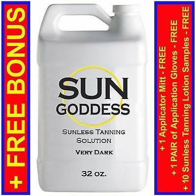 Sun Goddess - Sunless Self Tanning Spray Solution Liquid - VERY DARK - 32 oz.
