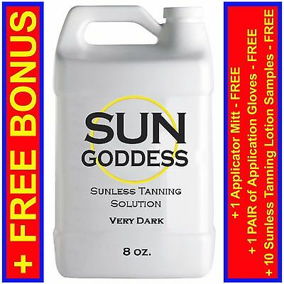 Sun Goddess - Sunless Tanning Spray Solution Liquid - VERY DARK - 8 oz.