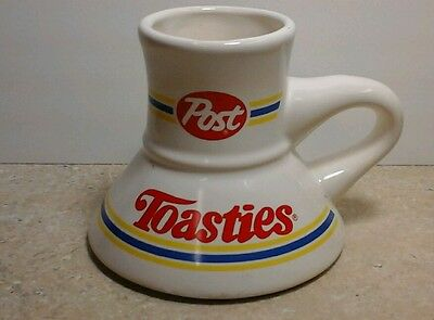 Post Toasties Cereal Coffee Cup Mug Cool Vintage Advertising                 T-4