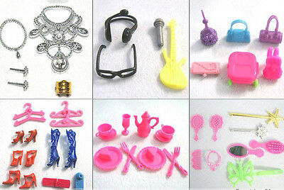 Hot Lot of Mixed Vintage & Modern Doll Accessories Shoes For Barbie Doll Make Up