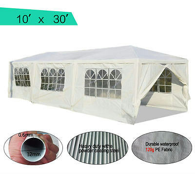 Quictent 10'x30'High-grade Party Wedding Tent Canopy Marquee Gazebo w/ sidewalls