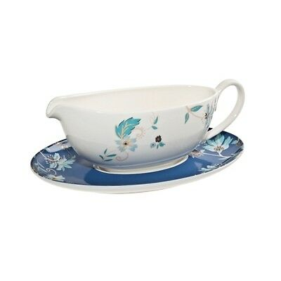 Denby Monsoon Veronica Sauce Boat and Stand