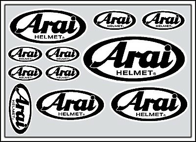 Arai decal set 11 quality printed and laminated helmet stickers