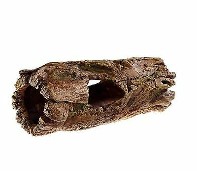 Chunky Driftwood Log Fish Cave Aquarium Ornament Reptile Tunnel Den Decoration